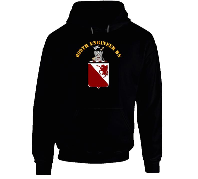 809th Engineer Bn - Coat of Arms Hoodie