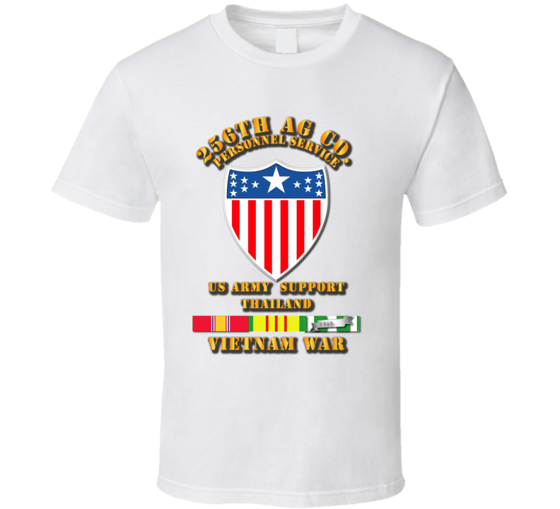 256th AG Co w VN Svc Ribbons T Shirt