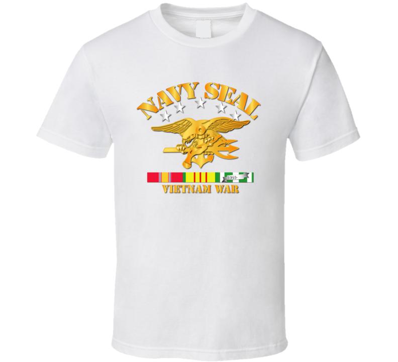 NAVY SEALS w VN SVC Ribbons T Shirt
