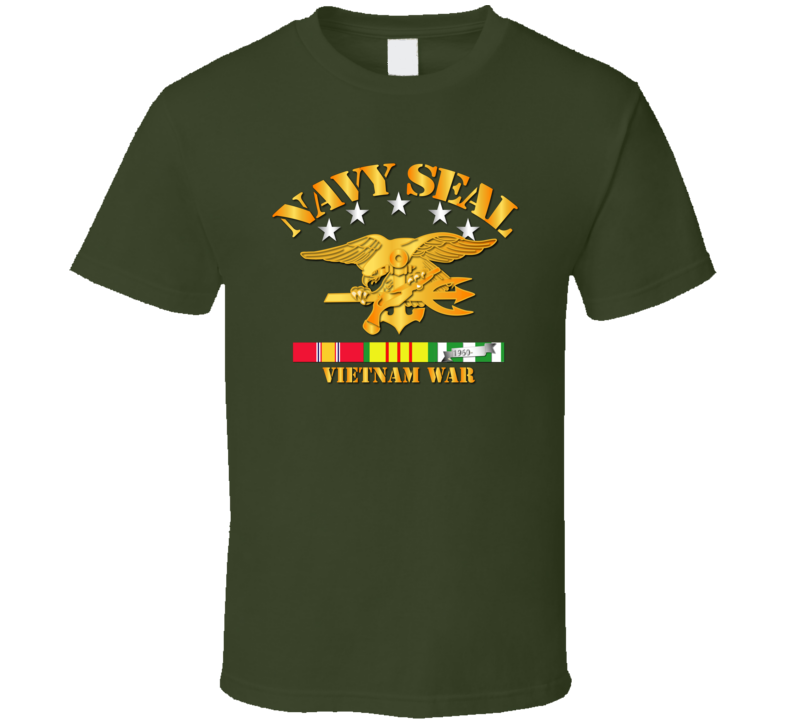 NAVY SEALS w VN SVC Ribbons T Shirt