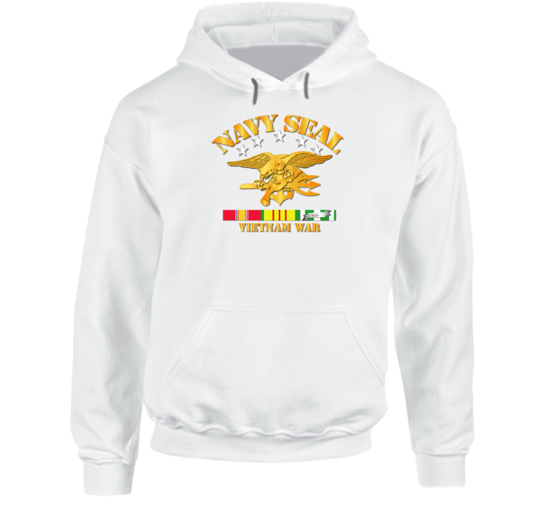 NAVY SEALS w VN SVC Ribbons Hoodie