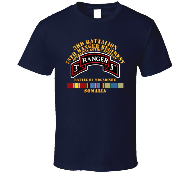 3Bn 75th Rangr Rgt  w Svc - Mogadishu T Shirt