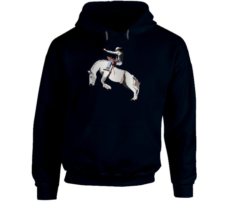 Bronc Rider - White Horse Hoodie