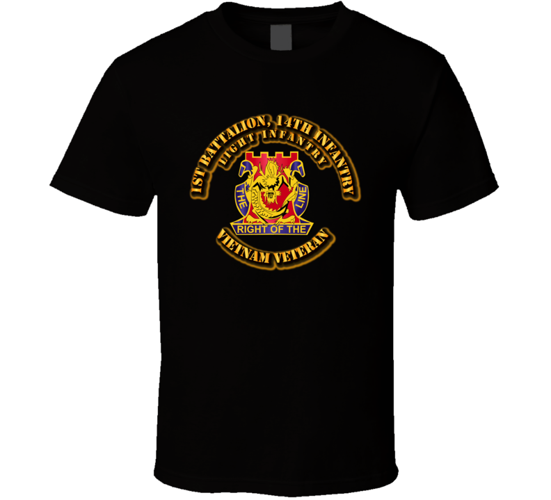 1st Battalion, 14th Infantry (Light Infantry) Without Svc Ribbon T Shirt