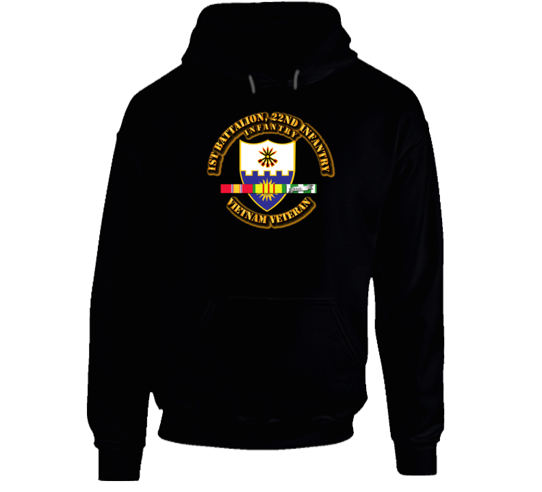 1st Battalion, 22nd Infantry (Infantry With Svc Ribbon Hoodie