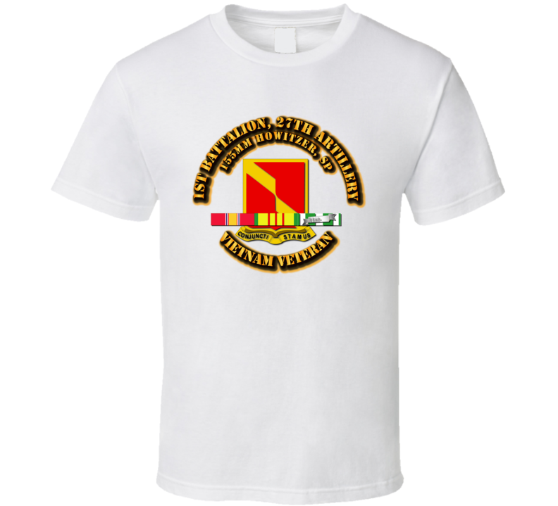 1st Battalion, 27th Artillery (155 Mm Howitzer, Sp) With Svc Ribbon T Shirt