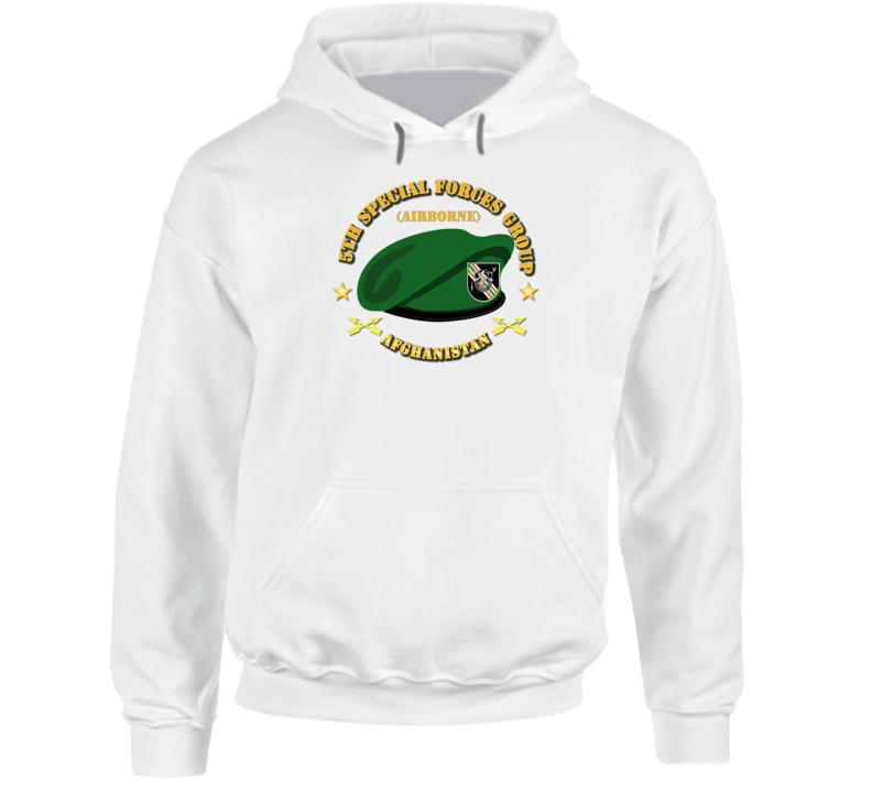 Emblem - Sof - 5th Sfg Beret - Afghanistan Hoodie