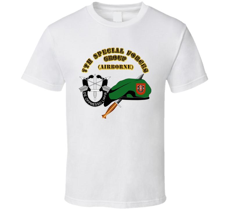 Emblem - Sof - 7th Sfg - Beret - Dui - Dagger - 1 T Shirt