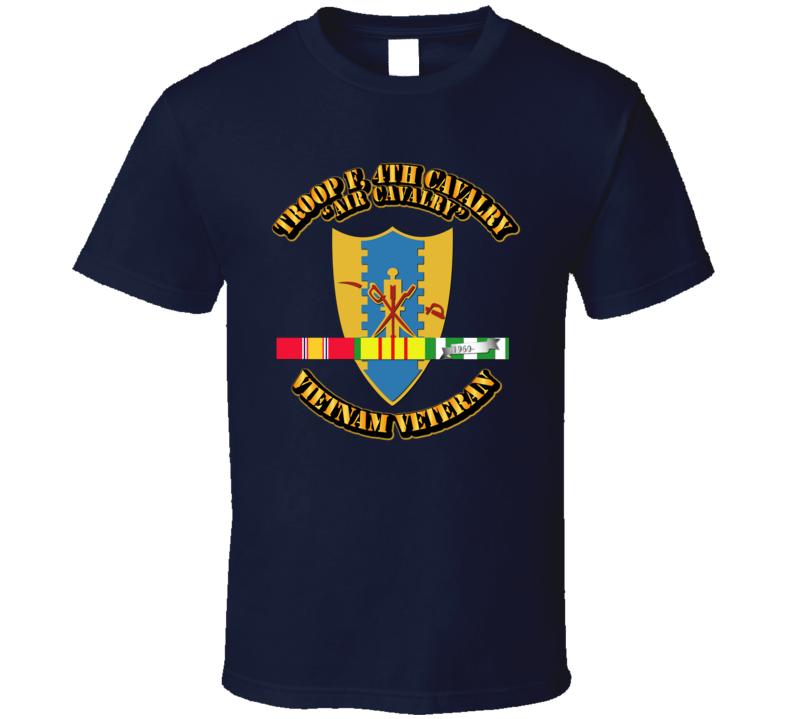 Troop F,  4th Cavalry W Svc Ribbons - T-shirt