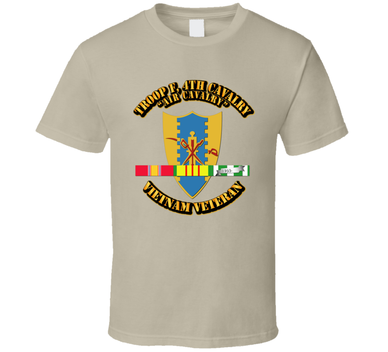 Troop F,  4th Cavalry W Svc Ribbons - T-shirt