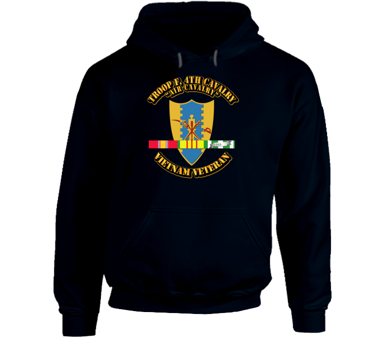 Troop F,  4th Cavalry W Svc Ribbons - Hoodie