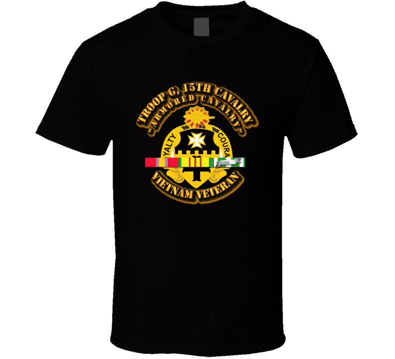 Troop G, 5th Cavalry (armored Cavalry) W Svc Ribbons - T-shirt