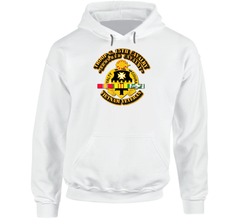 Troop G, 5th Cavalry (armored Cavalry) W Svc Ribbons - Hoodie