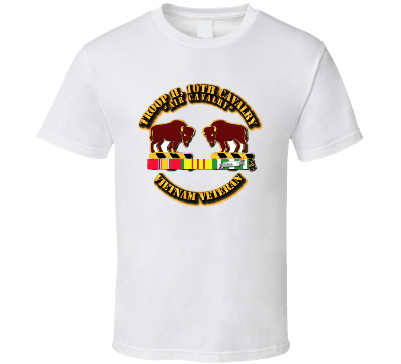 Troop H,  10th Cavalry W Vietnam Svc - T-shirt