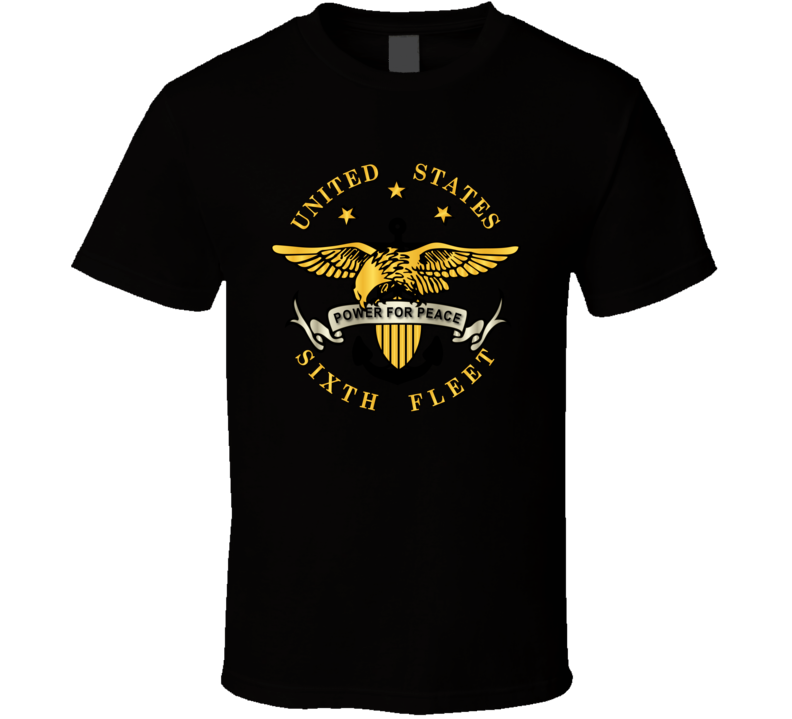 Navy - Sixth Fleet Wo Txt Wo Backgrnd T-shirt