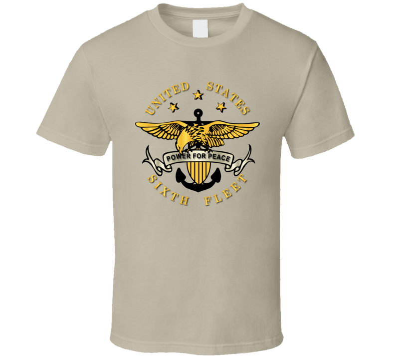 Navy - Sixth Fleet Wo Txt Wo Backgrnd T-shirt