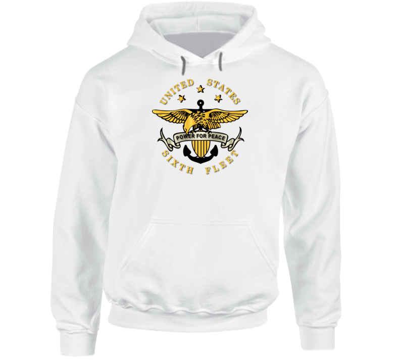 Navy - Sixth Fleet Wo Txt Wo Backgrnd Hoodie