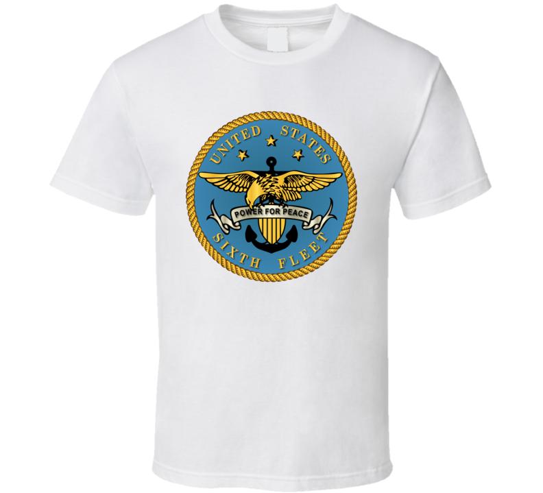 Navy - Sixth Fleet Wo Txt T-shirt