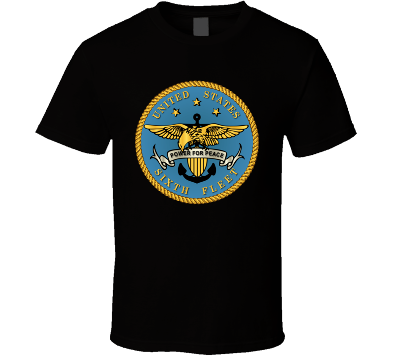 Navy - Sixth Fleet Wo Txt T-shirt
