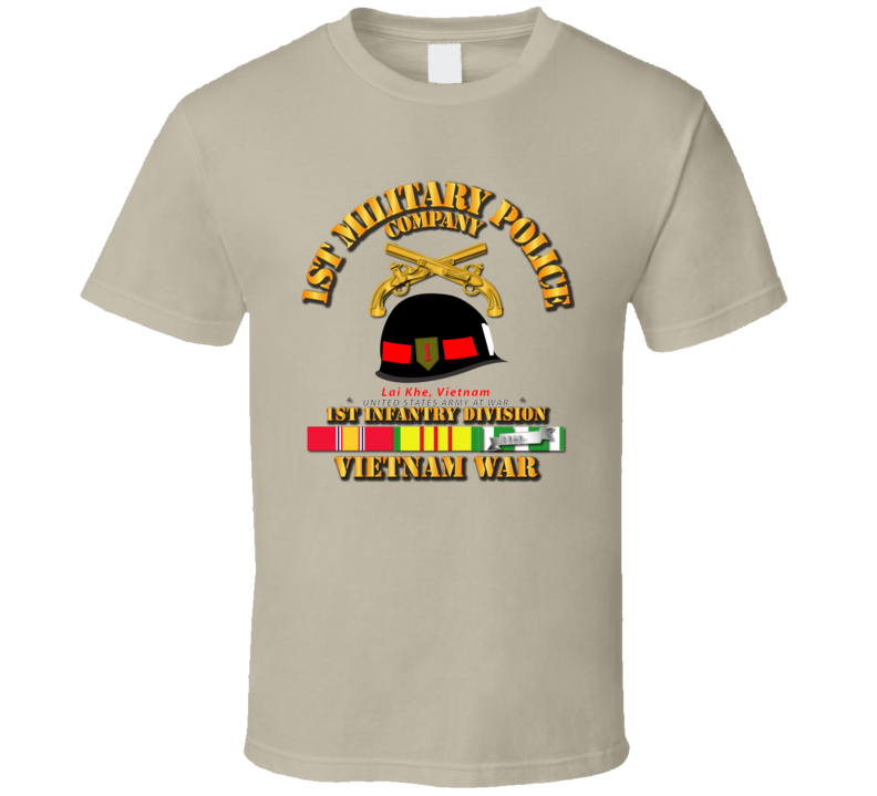 Army - 1st MP Company - 1st Inf Div Vietnam w SVC T Shirt