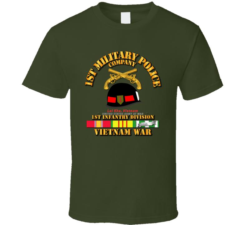 Army - 1st MP Company - 1st Inf Div Vietnam w SVC T Shirt