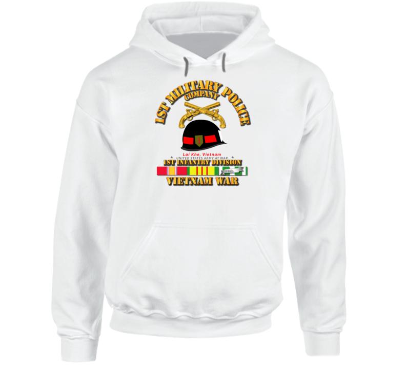Army - 1st Mp Company - 1st Inf Div Vietnam W Svc Hoodie