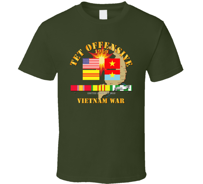 Army - 1969 Tet Offensive T Shirt