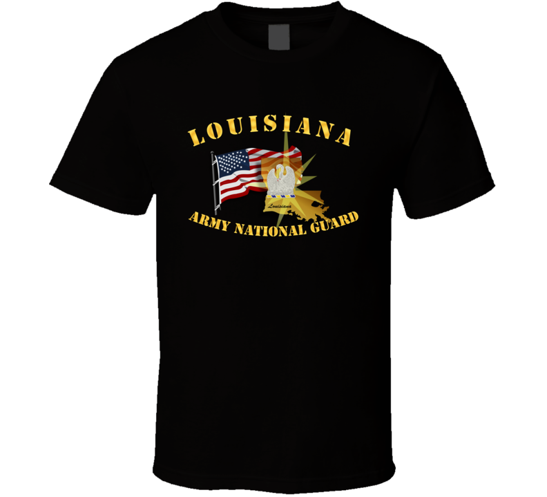 Louisiana - Arng W Flag T Shirt