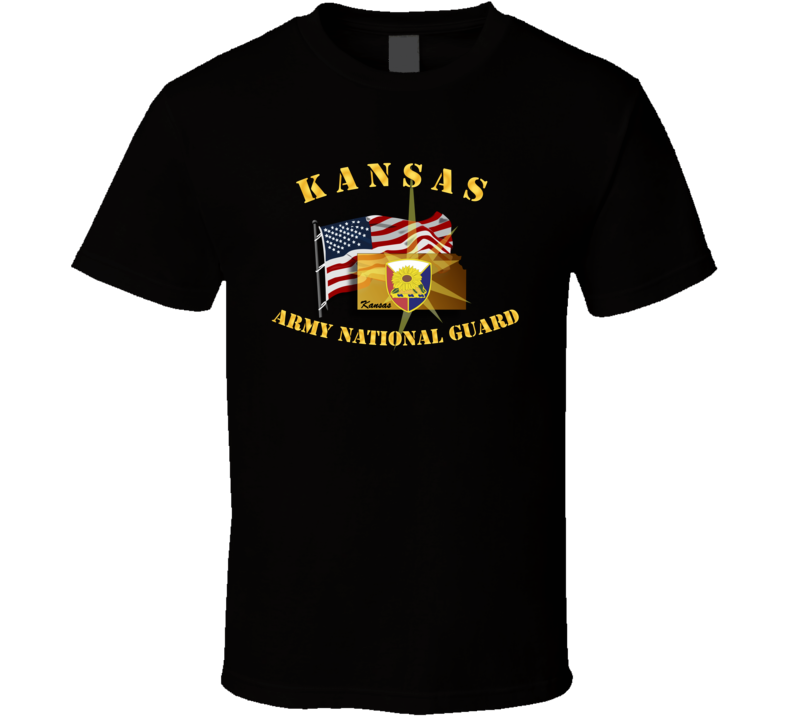 Kansas - Arng W Flag T Shirt