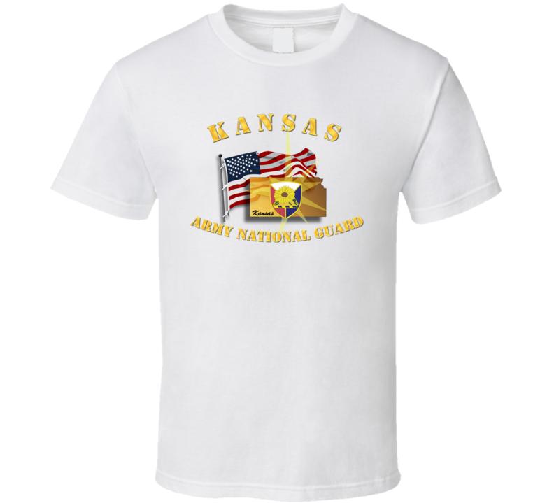 Kansas - Arng W Flag T Shirt