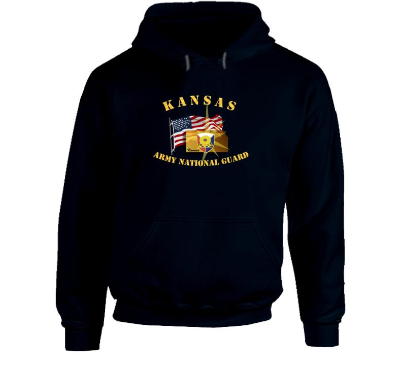 Kansas - Arng W Flag Hoodie