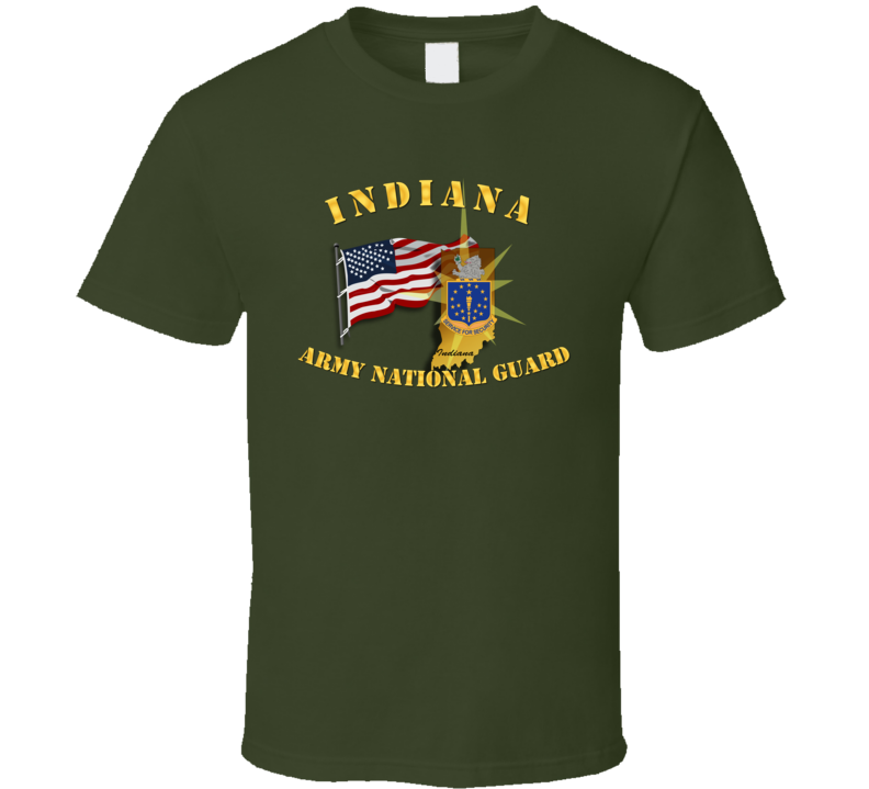 Indiana - Arng W Flag T Shirt