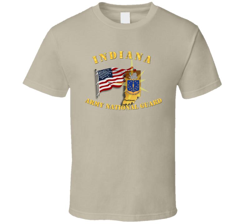 Indiana - Arng W Flag T Shirt