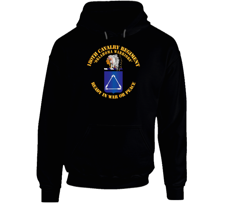Army - 180th Cavalry Regiment - Coa - Hoodie