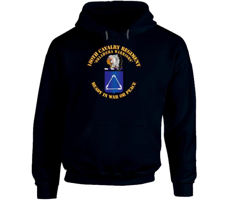Army - 180th Cavalry Regiment - Coa - Hoodie