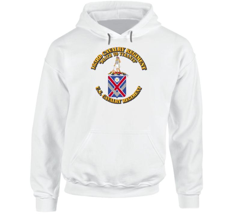 Army - 183rd Cavalry Regiment - Coa - Hoodie