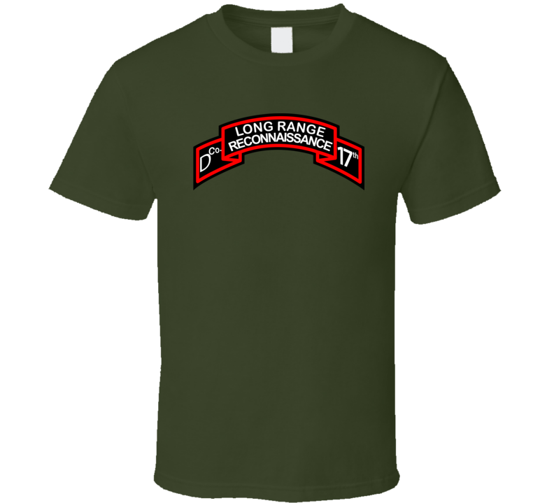 T-shirt - Ssi - D Co 17th Infantry (lrp)scroll - T Shirt