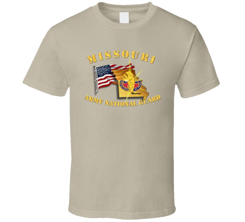 T-shirt - Missouri - Arng W Flag - T Shirt