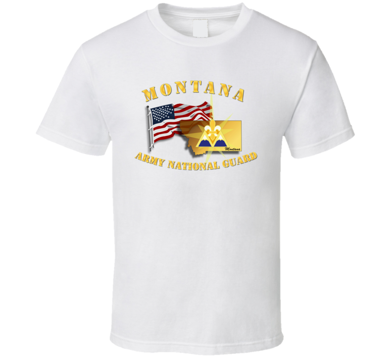 T-shirt - Montana - Arng W Flag - T Shirt