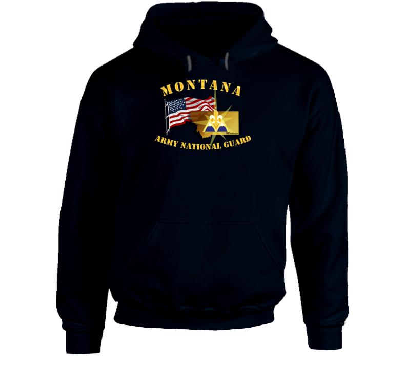 T-shirt - Montana - Arng W Flag - Hoodie