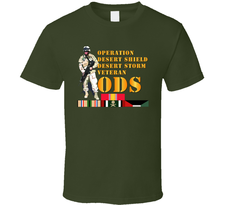 Army - Soldier - Ods W Svc Ribbons T-shirt