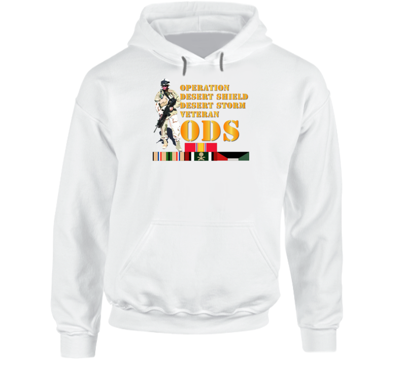 Army - Soldier - Ods W Svc Ribbons Hoodie