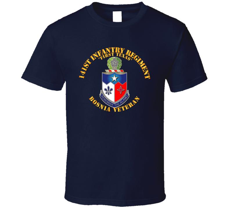 Army - 141st Infantry Regiment W Bosnia W Txt - Tshirt
