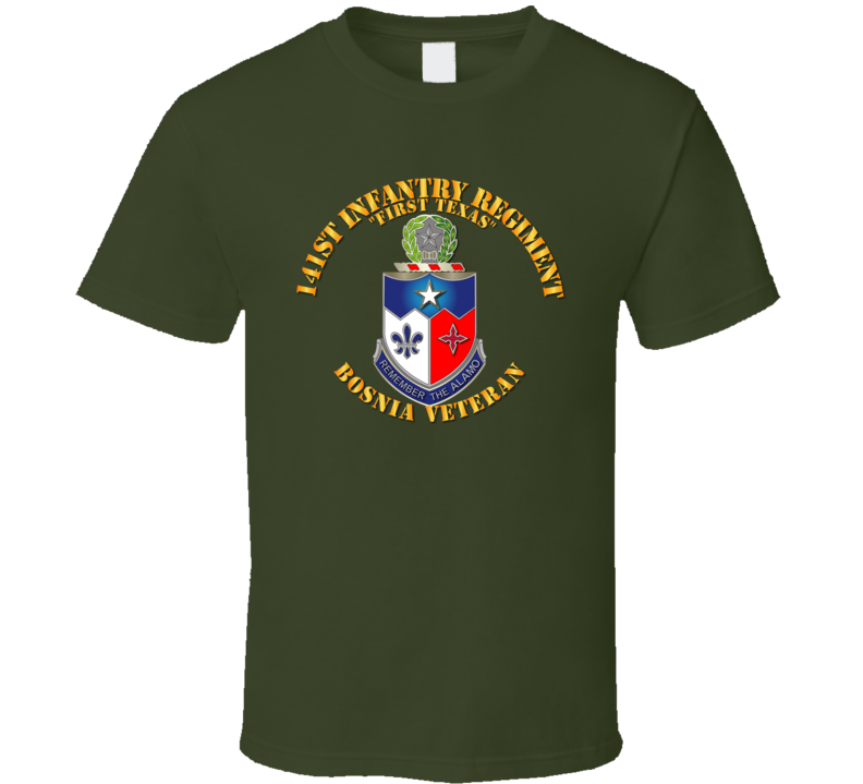 Army - 141st Infantry Regiment W Bosnia W Txt - Tshirt