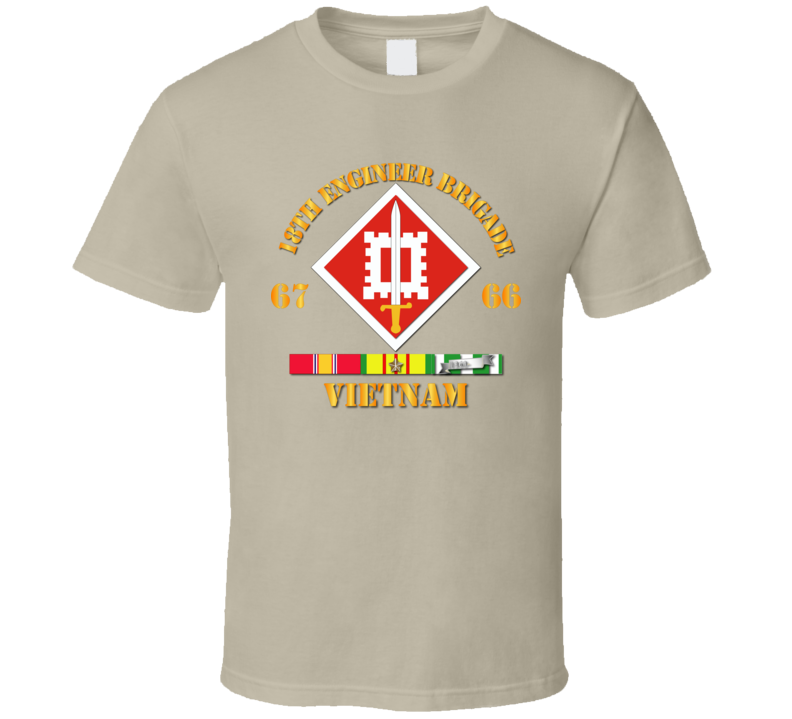 Army - 18th Engineer Bde Ssi  66-67 W Vn Svc T Shirt