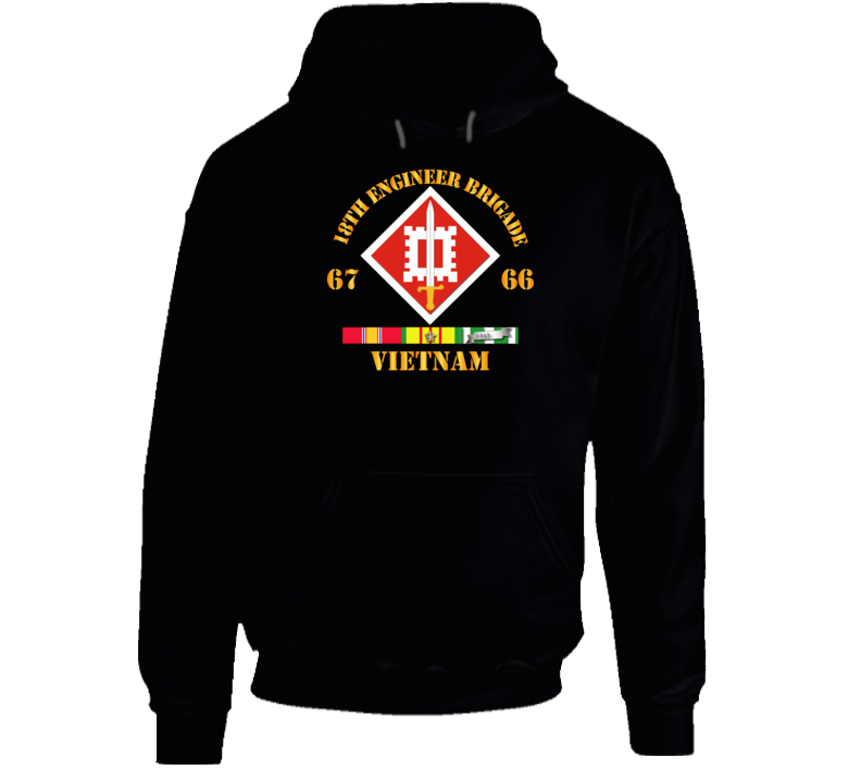 Army - 18th Engineer Bde Ssi  66-67 W Vn Svc Hoodie