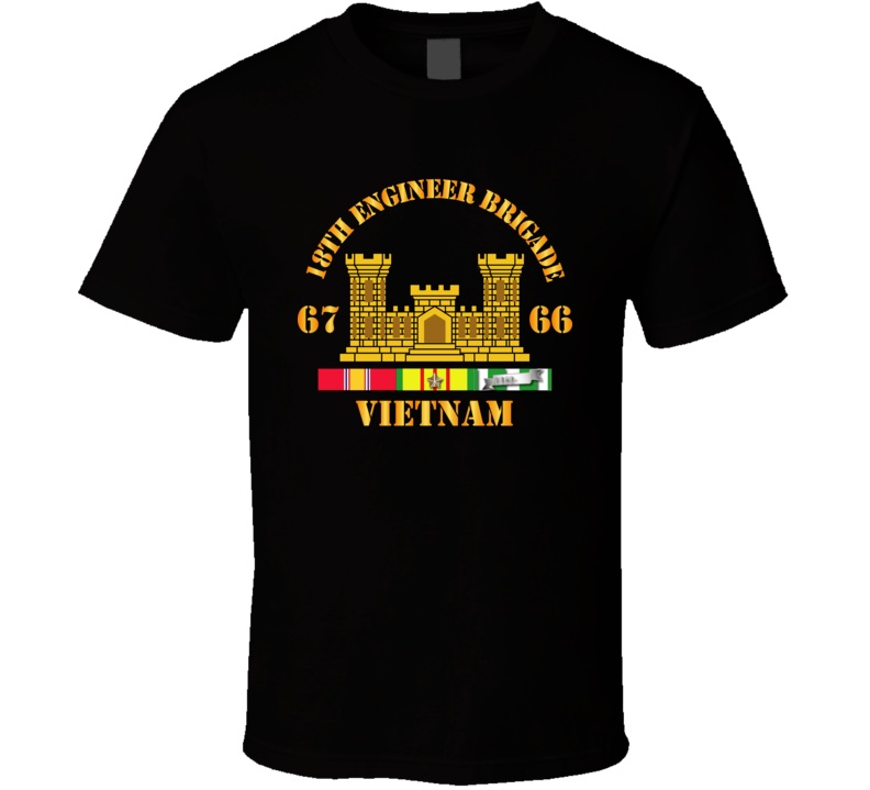 Army - 18th Engineer Bde Branch 66-67 W Vn Svc T Shirt