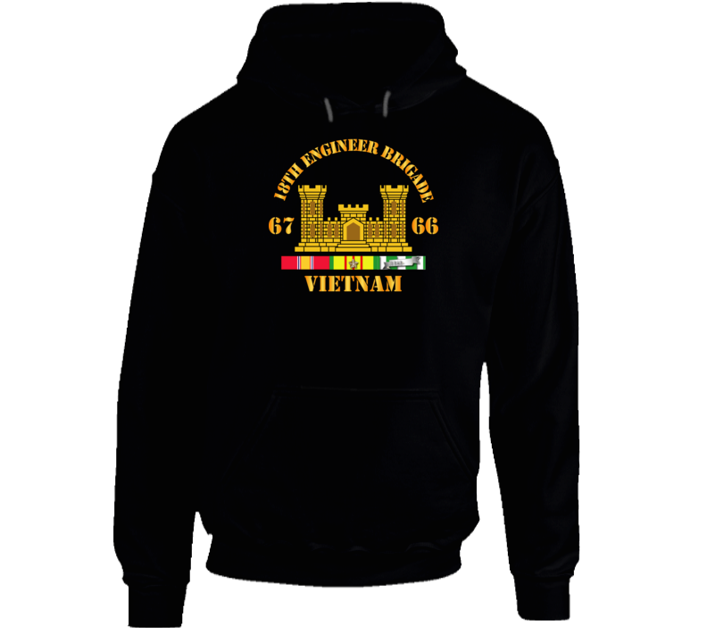 Army - 18th Engineer Bde Branch 66-67 W Vn Svc Hoodie