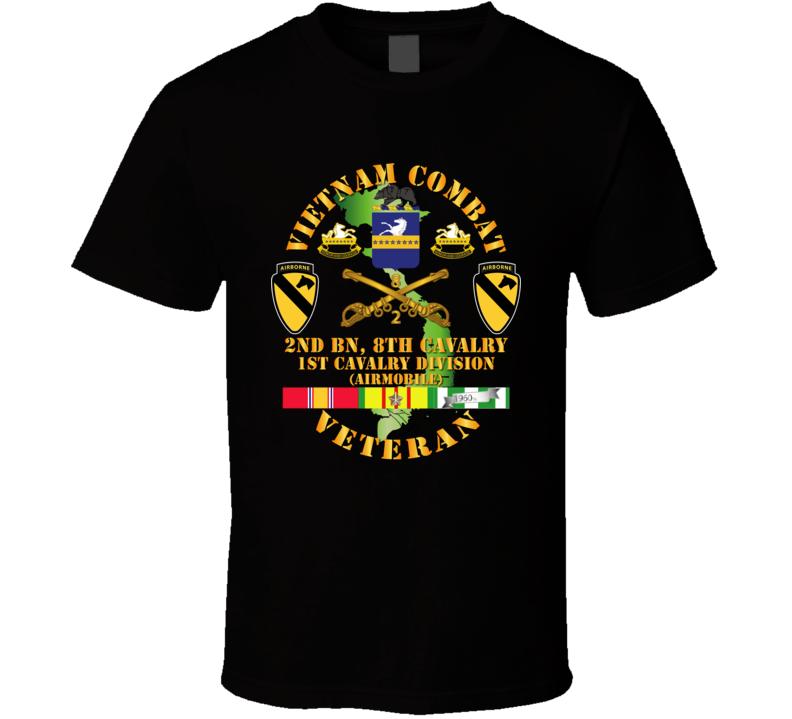 Army - Vietnam Combat Cavalry Veteran W 2bn 8th Cav Coa - 1st Cav Div Abn-airmobile T Shirt