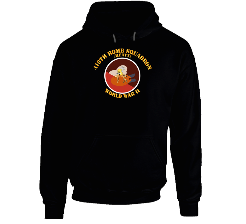 Aac - 418th Bomb Squadron Wwii Hoodie